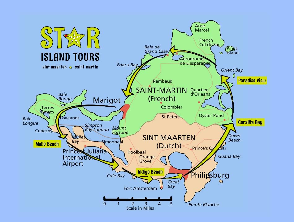 Star Island Tours Map